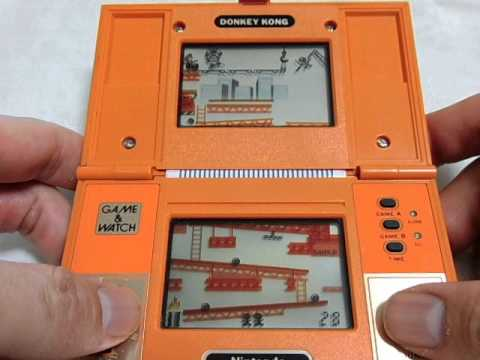 13270 nintendo game watch multi screen donkey kong dk 52 1982 youtube. Black Bedroom Furniture Sets. Home Design Ideas
