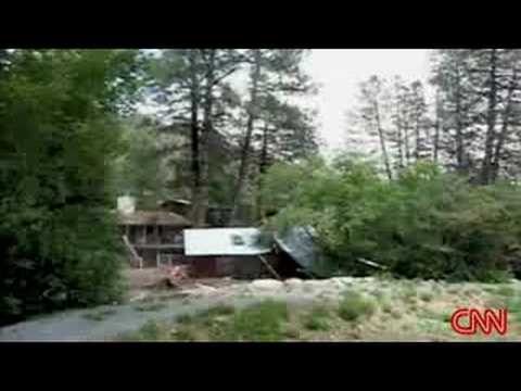 CNN Video of Cabin Washed Away - Ruidoso New Mexico