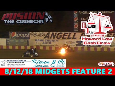 Angell Park Speedway - 8/12/18 - Badger Midgets - Feature 2
