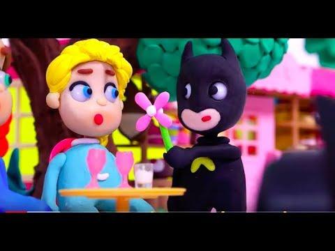 SUPERHERO BABIES Play Doh Stop Motion and Cartoons For Kids Superhero Babies - 동영상