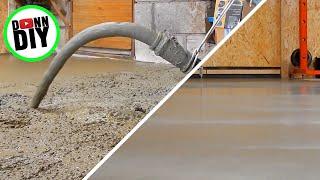 Concrete Pour and Polishing Concrete Floors, Incl. Full Time Lapse -  Machine Shop Build Ep. 13