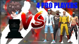 Vincenzo & Ruok Vs 4 Pro Players FreeFire