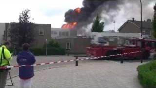 Grote brand in Waalwijk. deel 1