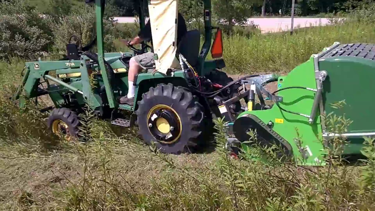 Compact Tractor Flail Mower With Collection Hopper Peruzzo 45