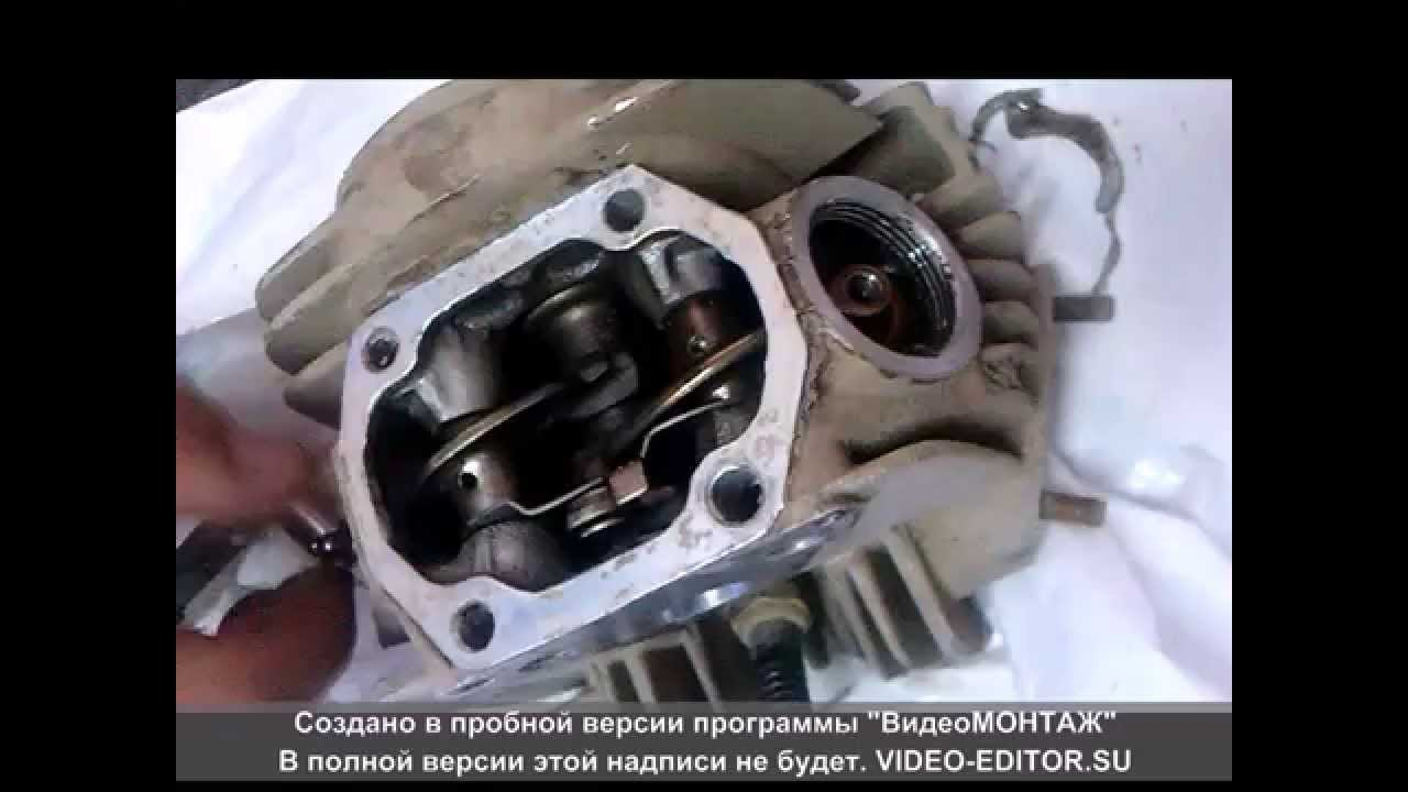 Замена ЦПГ и клапанов на ТТР125