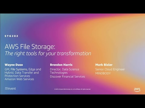 AWS re:Invent 2019: What's new in AWS file storage (STG202)