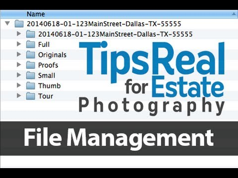 Real Estate Photography Tips File Management and Exporting in Lightroom