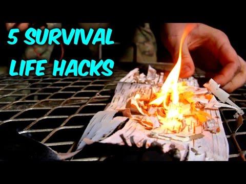 5 Survival Fire Starting Life Hacks