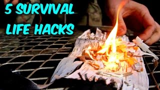5 Survival Fire Starting Life Hacks