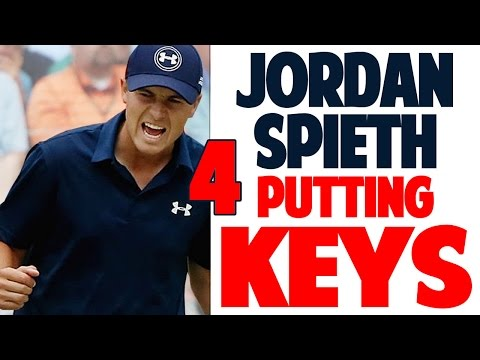 JORDAN SPIETH PUTTING ANALYSIS AND DRILL | 4 KEYS TO DRAINING BIG PUTTS