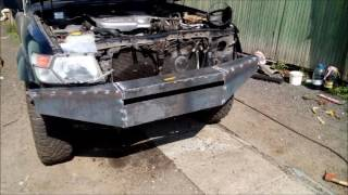 Силовой бампер для Nissan Patrol Y61 Своими руками