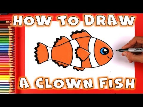 How To Draw A Fish - How To Draw A Clown Fish