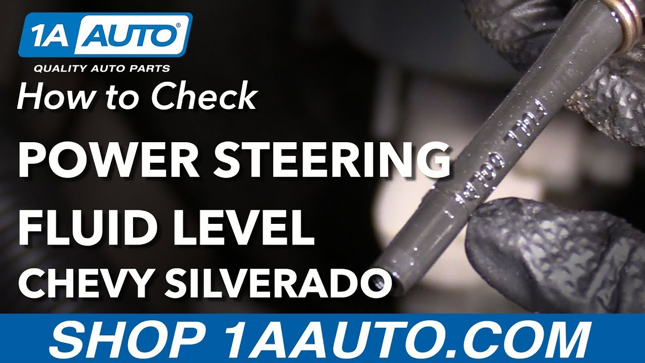How to Check Power Steering Fluid Level 07-13 Chevy Silverado