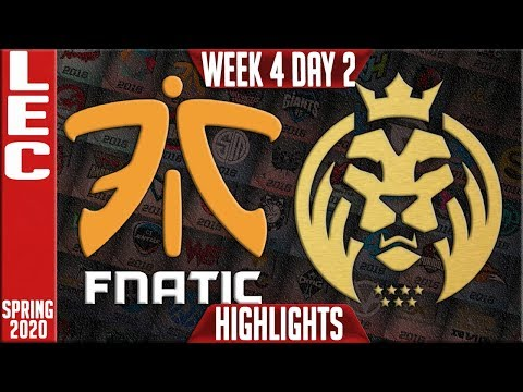 FNC vs MAD Highlights | LEC Spring 2020 W4D2 | Fnatic vs MAD Lions
