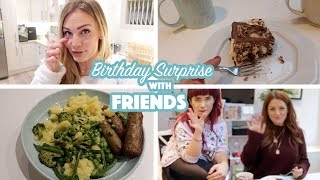Birthday Surprise with Friends!   What I Ate Wednesday
