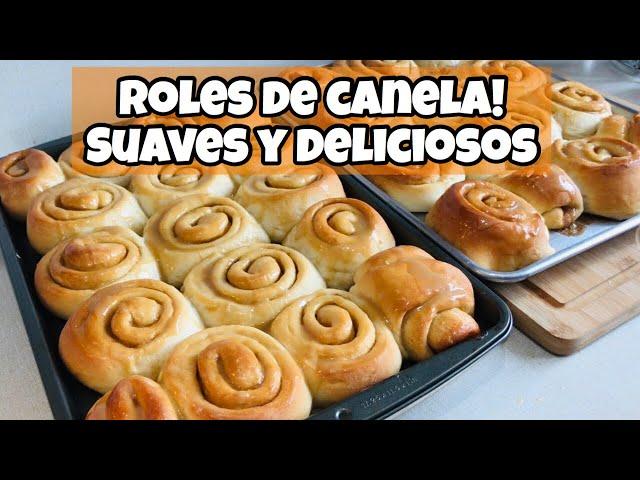 RECETA DE ROLES DE CANELA!! COMO HACER ROLES DE CANELA!
