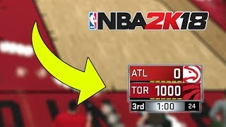 I Scored 1000 Points In A Game Of NBA 2K18...