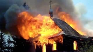 Пожар церкви Святого Василія в Косові 19.06.2009