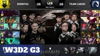 Dignitas vs Team Liquid | Week 3 Day 2 S10 LCS Summer 2020 | DIG vs TL W3D2