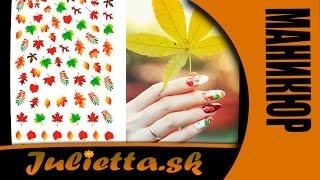 Маникюр. Дизайн ногтей. Наклейки на воде (Aliexpress)