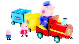 Peppa Pig on Grandpa Pig's Train from Cartoon Characters Toys VIDEO FOR CHILDREN(Peppa Pig on Grandpa Pig's Train from Cartoon Characters Toys VIDEO FOR CHILDREN =============================================== Also we ..., 2015-08-08T14:27:17.000Z)