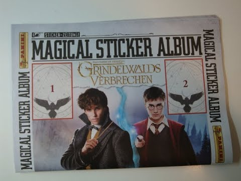 FANTASTIC BEASTS THE CRIMES OF GRINDELWALD HARY POTTER STICKER STARTER PACK NEW