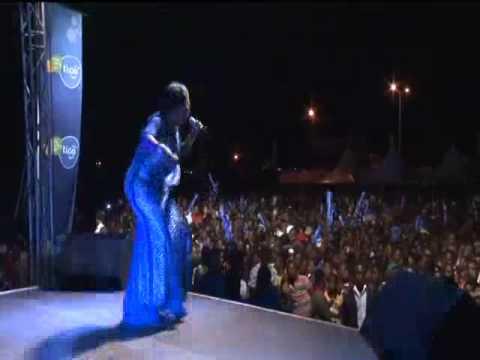 Agnes Opoku Agyemang performs at Techiman Tigofest