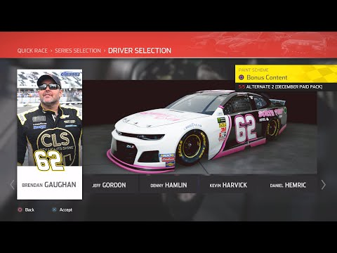 NASCAR Heat 4 - Brendan Gaughan @ Talladega (BC Awareness) |