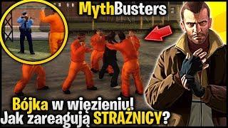Bójka w więzieniu! Czy strażnik zastrzeli więźnia? - Pogromcy Mitów GTA 4 #21