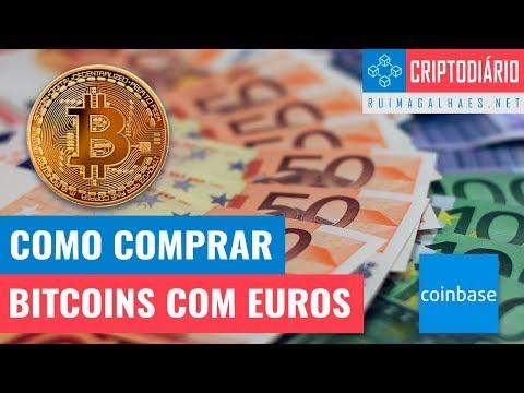 Como Comprar Bitcoins Com Euros (através Da Coinbase)