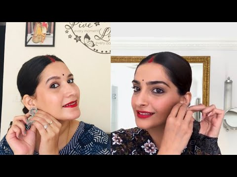 Download I followed VOGUE Sonam Kapoor gives a lesson in '90s bollywood beauty makeup look
