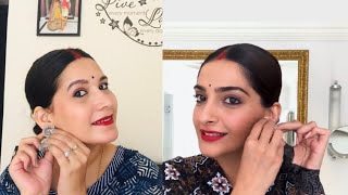 I followed VOGUE Sonam Kapoor gives a lesson in '90s bollywood beauty makeup look