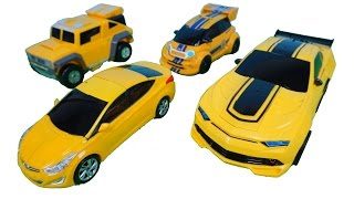 Transformers Bumblebee Rc Car & Tobot Miniforce Hello carbot Robot Yellow Car Toys 트랜스포머범블비 또봇 미니특공대