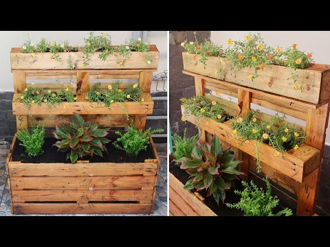 creative-way-to-upcycle-pallets-into-flower-planter-box-|-diy-garden-ideas