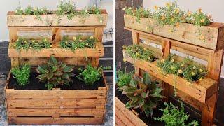 Reciclando Pallets e Fazendo Lindas Floreiras