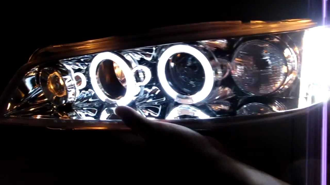 Honda Accord 1994 1997 Led Angel Eye Projector Headlight
