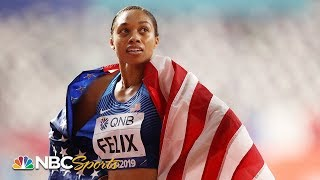 USA dominates in first mixed 4x400 relay, Allyson Felix breaks Usain Bolt's record | NBC Sports