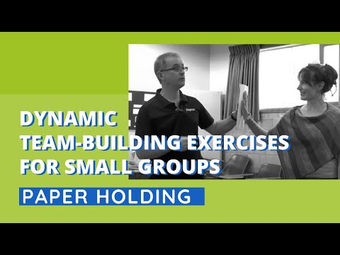 Dynamic Team-Building Exercise for Small Groups - Paper Hold