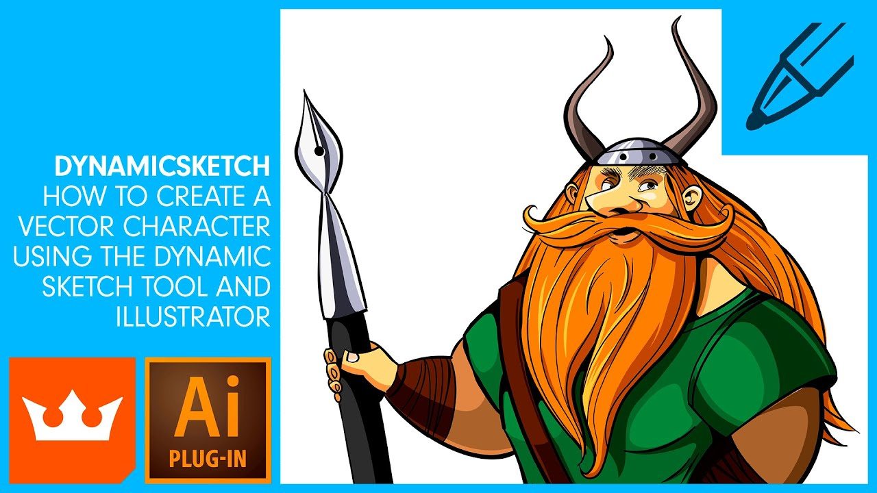 DYNAMICSKETCH | How to Create a Vector Character Using the DynamicSketch  Tool and Illustrator