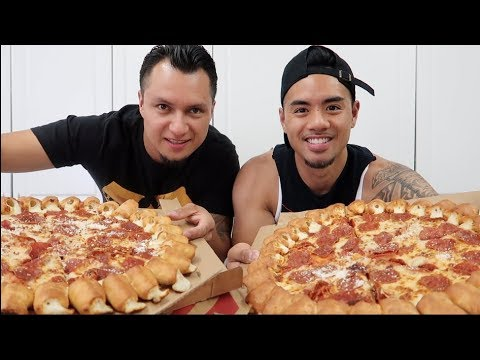 LIMITED EDITION PIZZA HUT'S CHEESY BITES PIZZA CHALLENGE! thumbnail