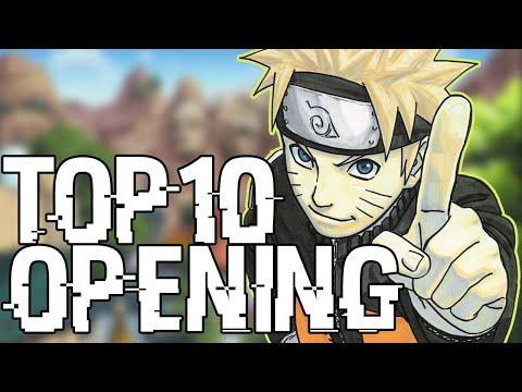 TOP 10 OPENING NARUTO SHIPPUDEN