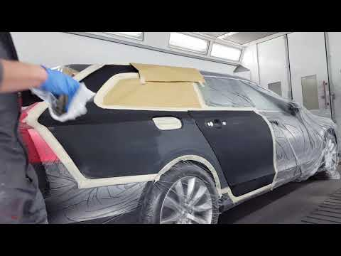 Painting a car with Standox Standoblue and extreme clearcoat