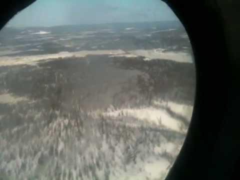 MI 8 helicopter's taking off at Batagai Airport in North Yakutia, Siberia / Russia