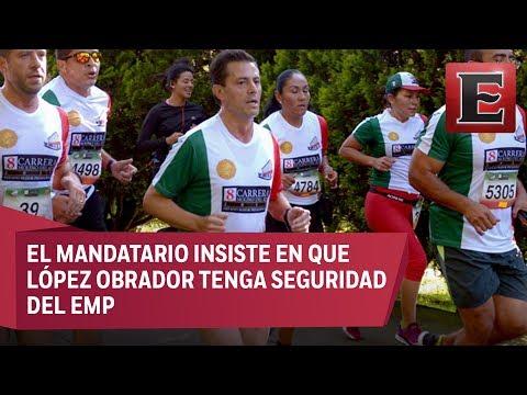 Peña Nieto corre su última carrera del Estado Mayor Presidencial