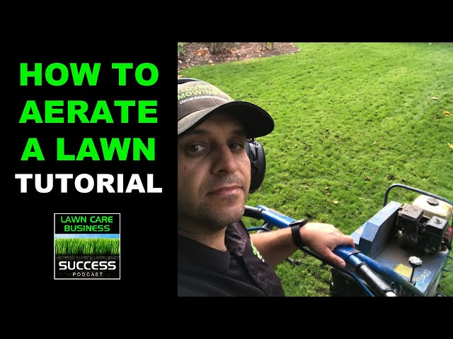 How To Aerate A Lawn Using A Bluebird 424 Aerator Tutorial