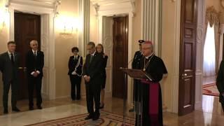 Discurs del Copríncep Episcopal durant la Recepció de Nadal