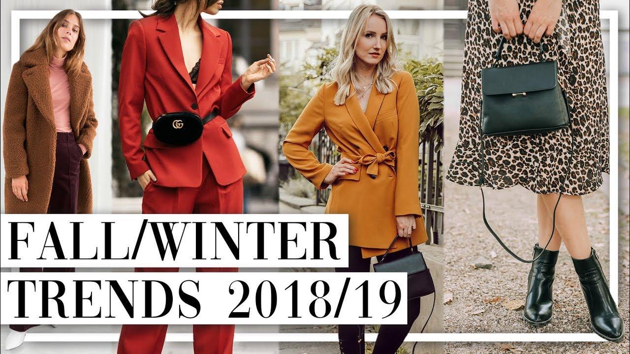 Die 10 Wichtigsten Herbst Winter Fashion Trends 2018 19