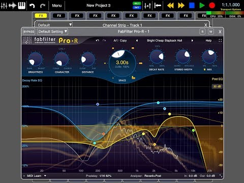 Auria PRO - Music Production - The FabFilter PRO-R Reverb - Demo for the  iPad