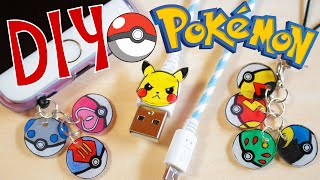 DIY Shrink Plastic Pokeball Charms & Pikachu Charger Cable [Under $10 Budget Crafts]