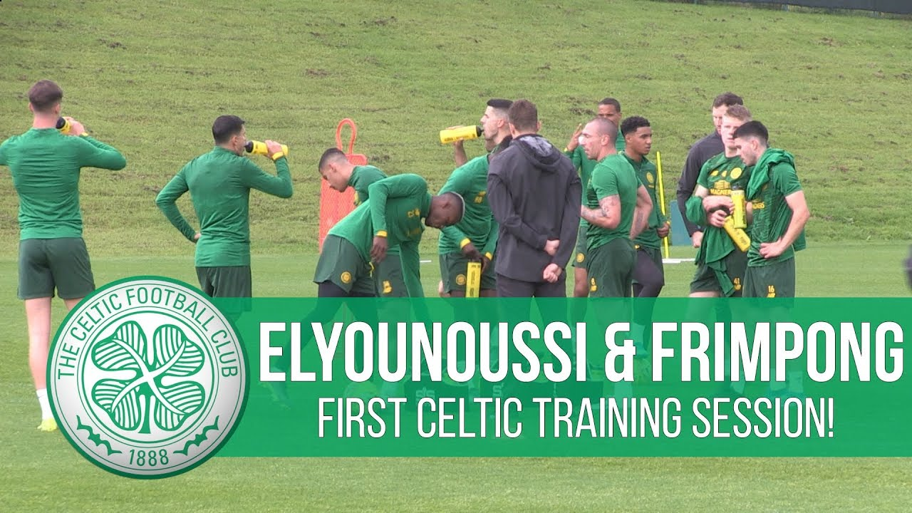 Celtic training: Elyounoussi & Frimpong join up with the Bhoys!